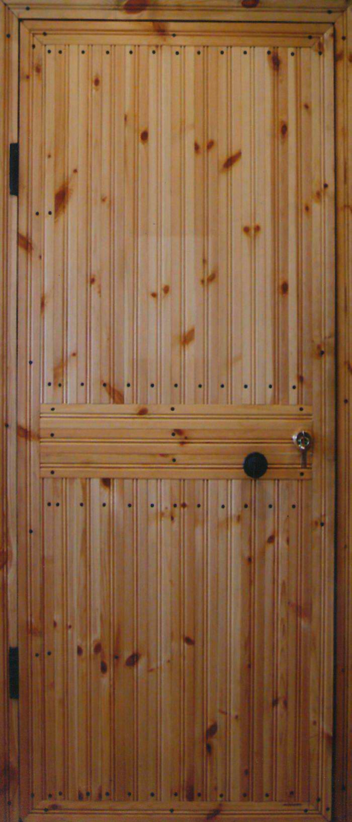 Как обшить металлическую дверь вагонкой своими руками